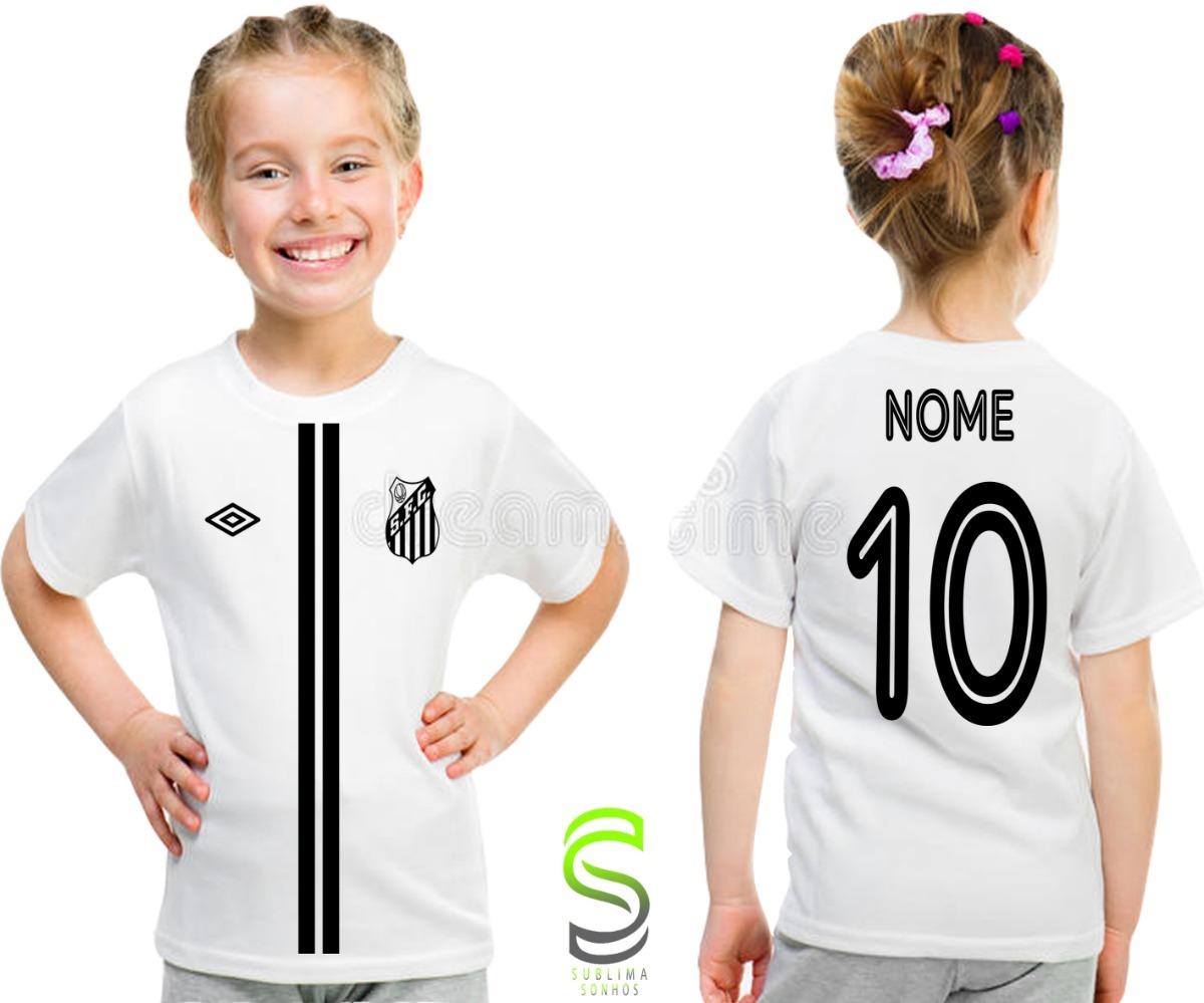 camisa camiseta infantil santos personalizada ref 02. Carregando zoom. 2135d3df889a7