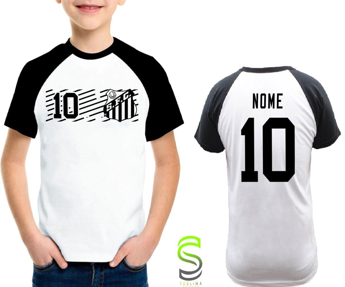 camisa camiseta infantil santos personalizada ref 090. Carregando zoom. ac97111c86515
