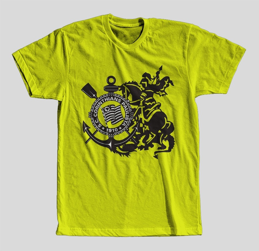 f6e8091909c75 Camisa Camiseta Infantil Time Corinthians São Jorge Unissex! - R$ 44 ...
