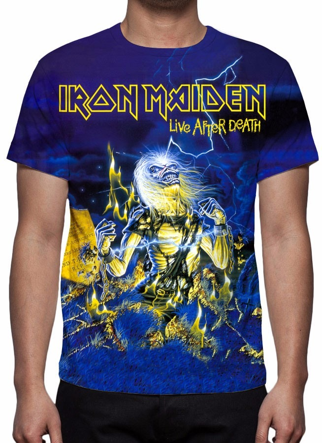 2cc8674e34 ... camiseta iron maiden - live after death. Carregando zoom.