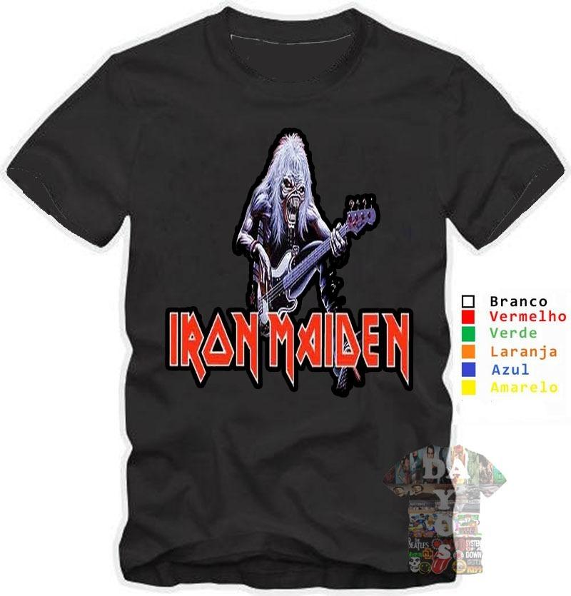 5fa1fff00 camisa camiseta iron maiden personalizada banda rock metal. Carregando zoom.