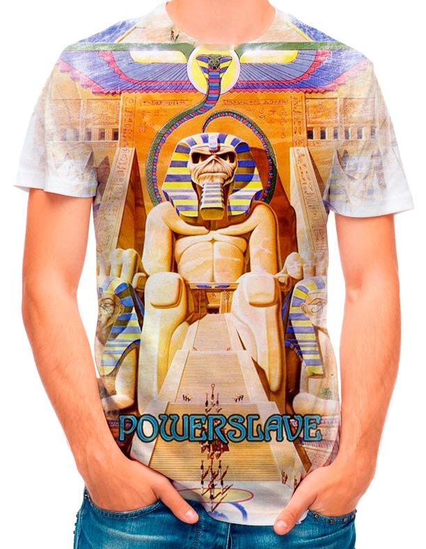83438de7ea Camisa Camiseta Iron Maiden Powerslave 2085 - R$ 35,90 em Mercado Livre