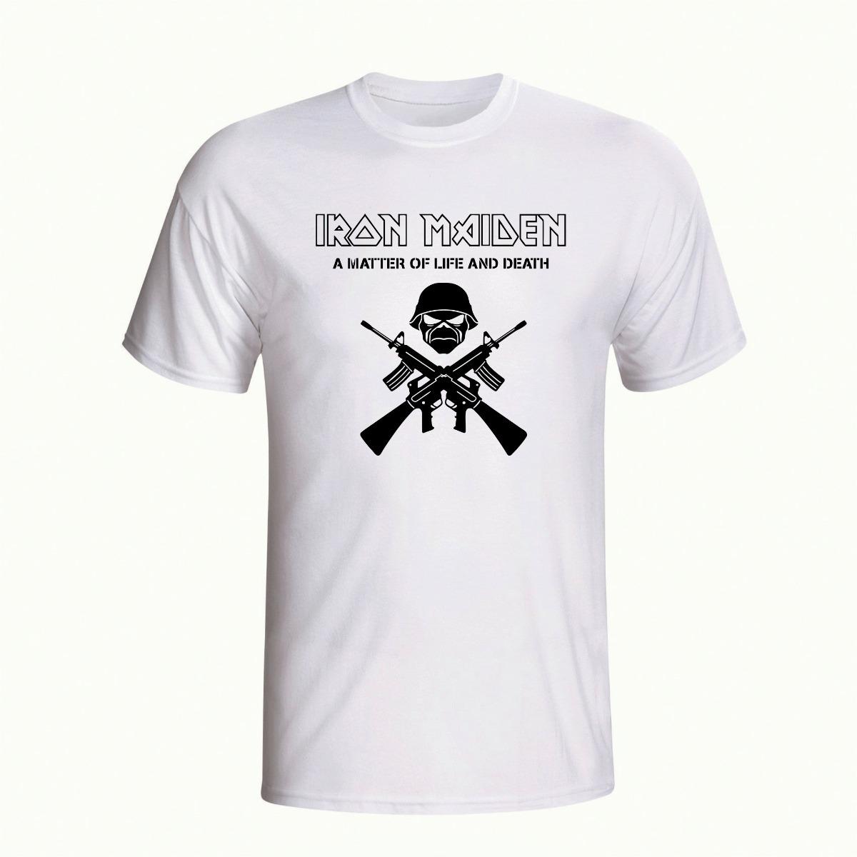 97c28c66e camisa camiseta iron maiden rock heavy metal banda branca. Carregando zoom.