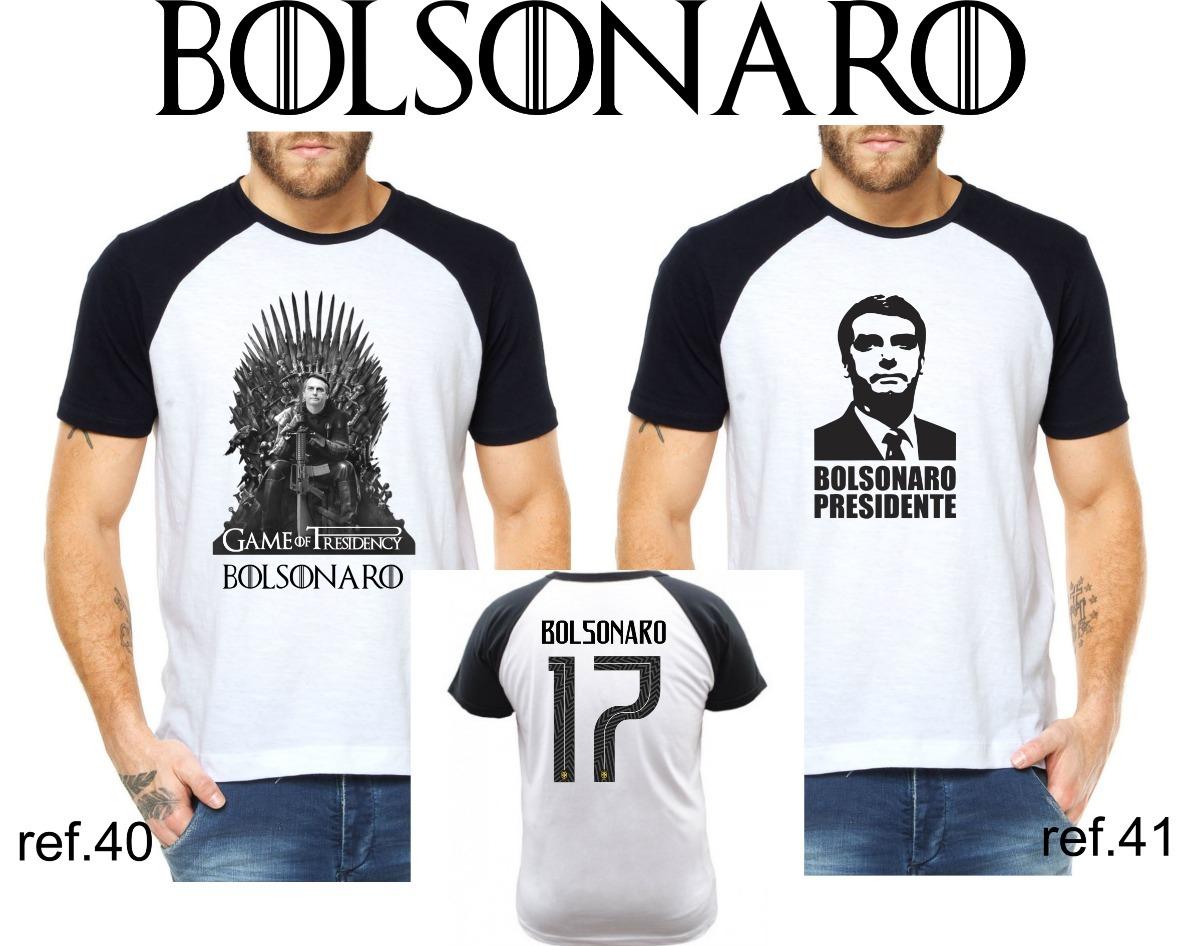 97f6e0a42ea59 Camisa Camiseta Jair Bolsonaro Presidente 2018 Raglan - R  45
