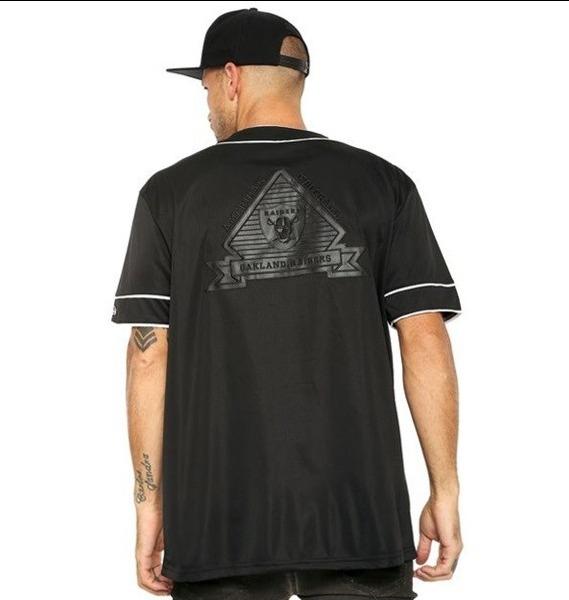 Camisa Camiseta Jersey Baseball New Era Raiders Original - R  249 c2d27bca095