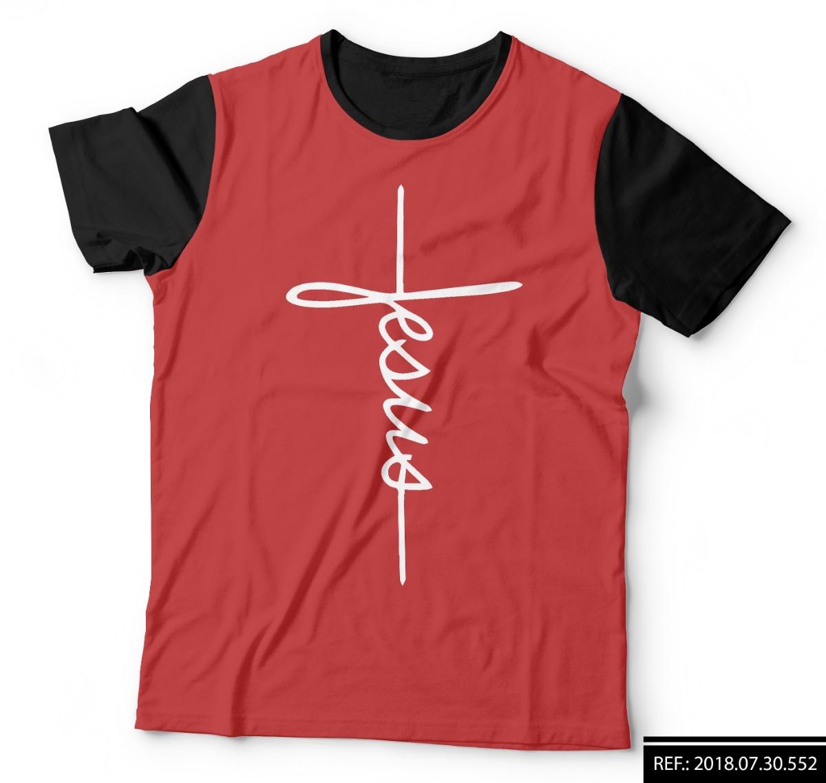 8f5dd5ead3 camisa camiseta jesus fé brasão cristã gratidão vermelha. Carregando zoom.