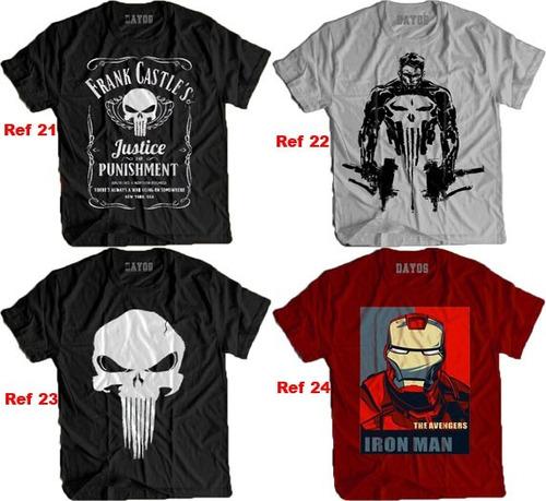 camisa camiseta justiceiro marvel punisher frank castle hq