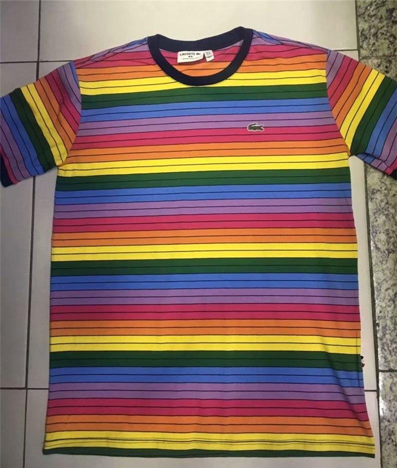 3e56c4d7ec5 camisa camiseta lacoste arco iris nova estoque ! ! Carregando zoom.