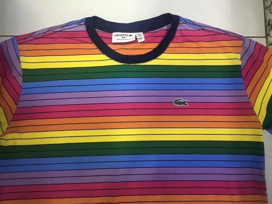 06c846bf2dd79 Camisa Camiseta Lacoste Arco Iris Nova Estoque - R  99,00 em Mercado ...