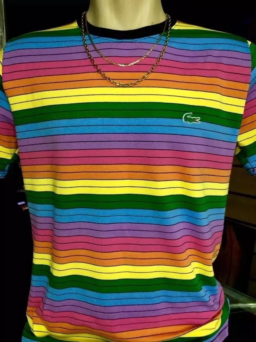 1d958520a23 Camisa camiseta lacoste arco iris original nova carregando zoom jpg  900x1200 Camisas lacoste original arco iros