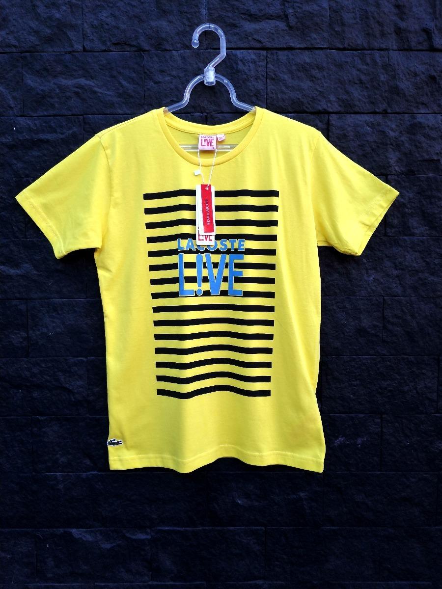 76818667a9eda Camisa Camiseta Lacoste Estampada Peruana Promoção - R  44,90 em ...