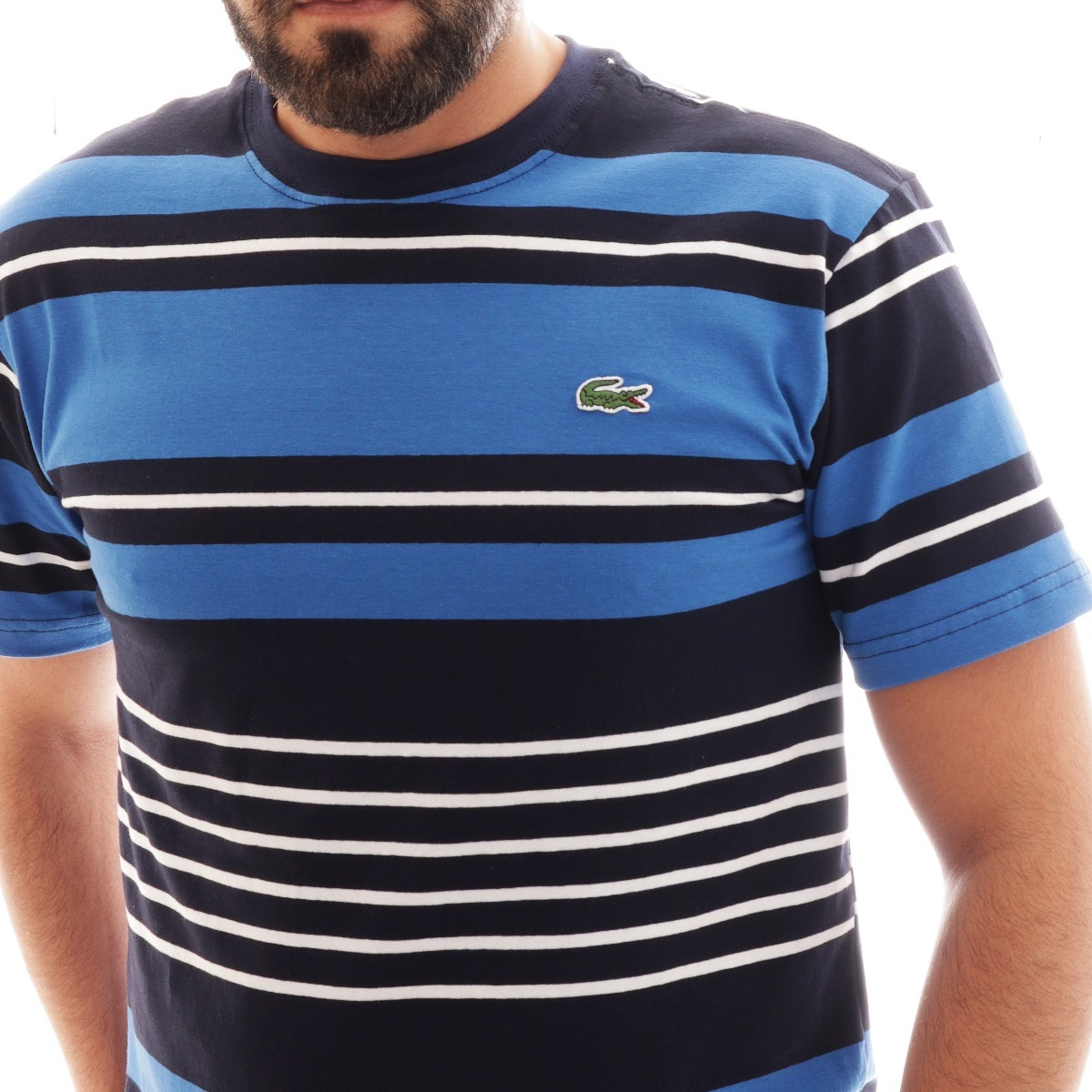 camisa camiseta lacoste listrada masc azul preta original. Carregando zoom. 10c02e4137