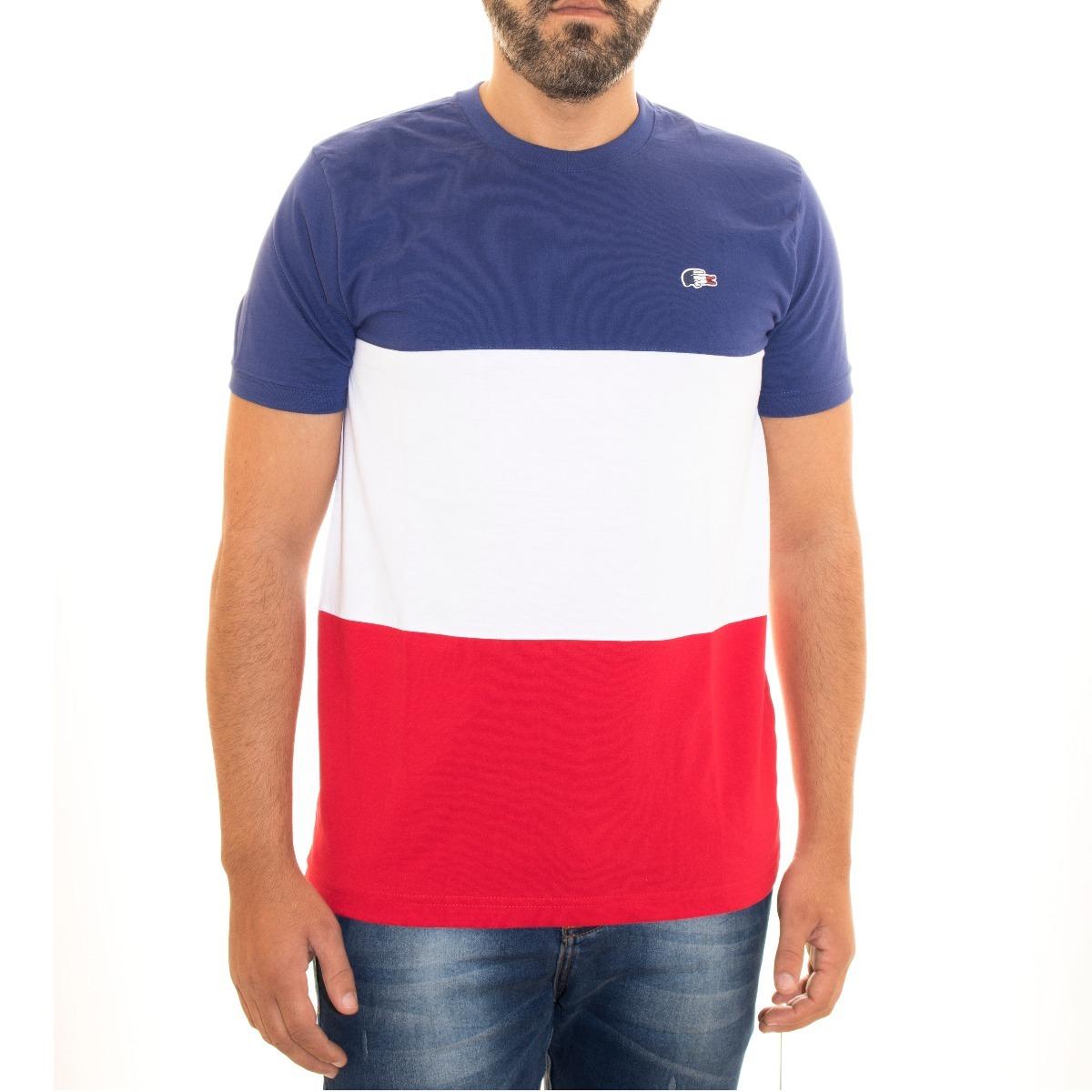 c7a5870e933c8 camisa camiseta lacoste masculina tricolor frança original. Carregando zoom.
