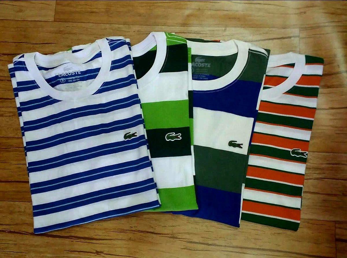 Camisa Camiseta Lacoste Original Listrada Masculina R 79 99 Em