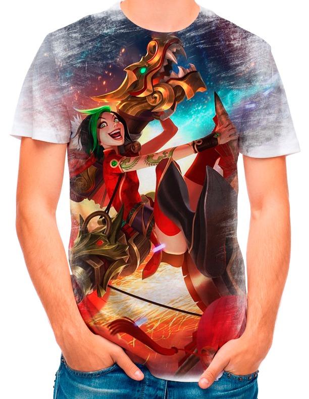 59d09dda55 Camisa Camiseta League Of Legends Jinx Fogos De Artificio 23 - R  35 ...