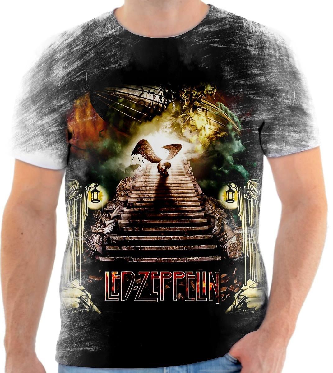 8b7fc2faf0 camisa camiseta led zeppelin banda de rock. Carregando zoom.