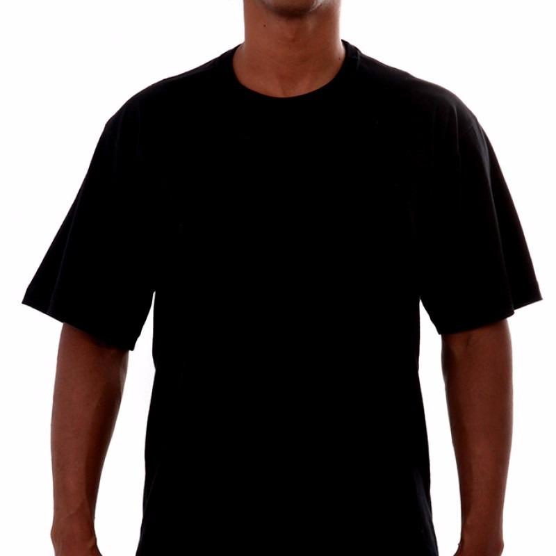 camisa camiseta lisa s. estampa 100% algodão preta ou branca. Carregando  zoom. 139944f6f75