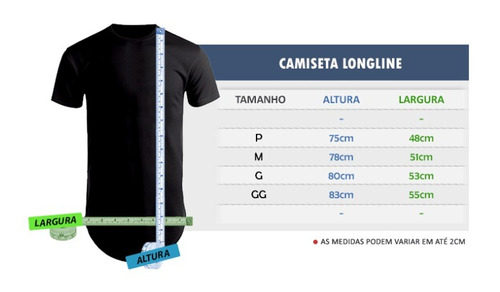 af784cf3b Camisa Camiseta Longline Lisa Unissex 100% Algodão Casual - R  29