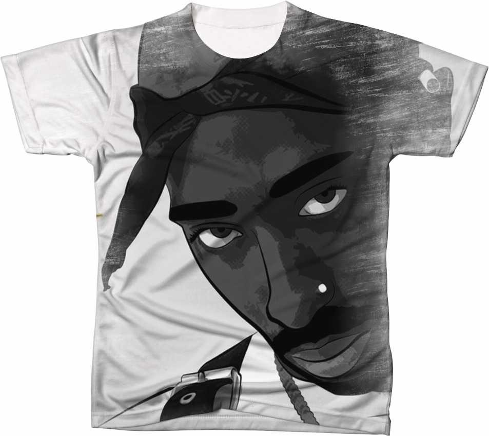 Camisa Camiseta Manga Curta 2pac Tupac Hip Hop Rapper 03 - R  54 231a776fdb976