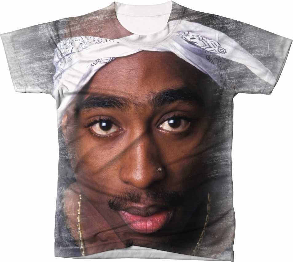 Camisa Camiseta Manga Curta 2pac Tupac Hip Hop Rapper 04 - R  49 2714a027d7f93
