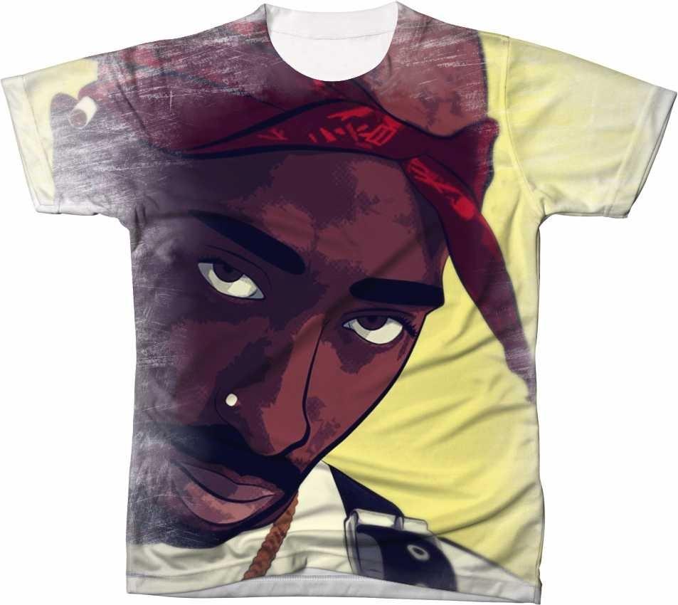 Camisa Camiseta Manga Curta 2pac Tupac Hip Hop Rapper 10 - R  49 fddd1ed6f4ce1