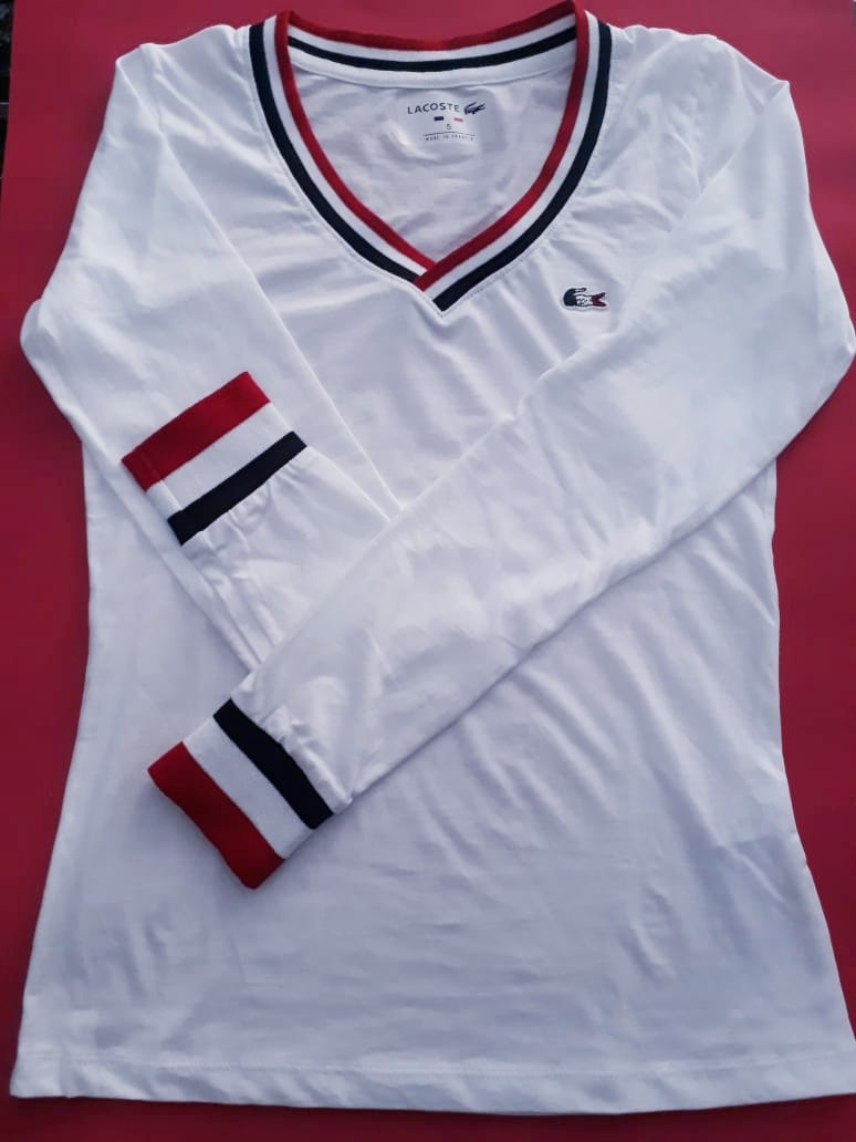 cc8d02b5841 camisa camiseta manga longa feminina lacoste - peruana top. Carregando zoom.