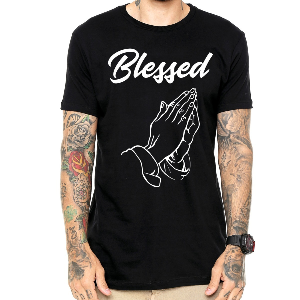 2d82958cb camisa camiseta masculina blessed fé the hope tumblr top. Carregando zoom.
