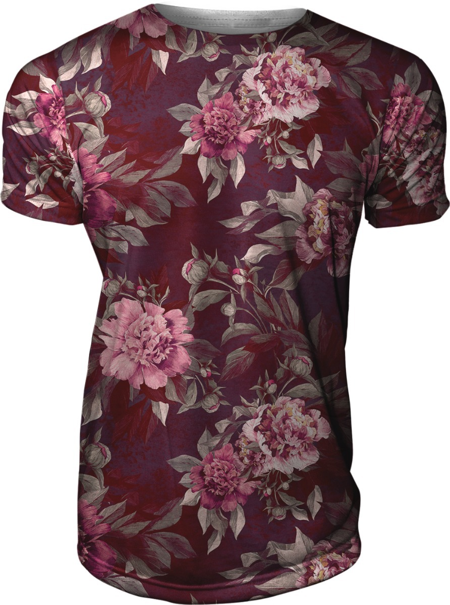 23ab8942e camisa camiseta masculina slim vermelha floral florida vanit. Carregando  zoom.