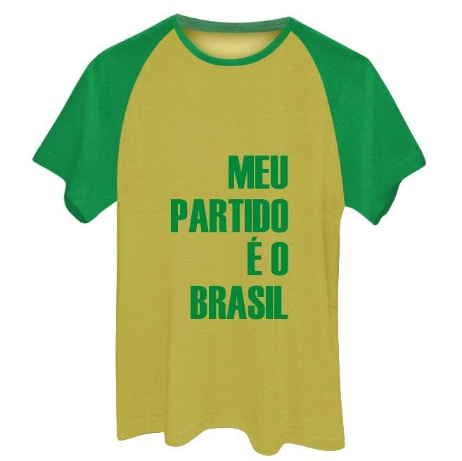f9773d208 Camisa Camiseta Meu Partido É O Brasil Plus Size Até G6 - R  45