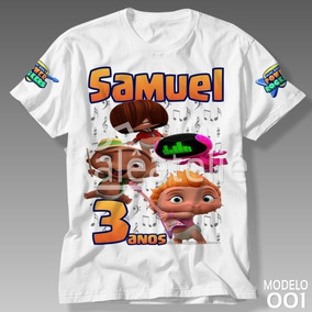 6afc907269867e Camisa Camiseta Mini Beat Power Rockers Infantil Festa