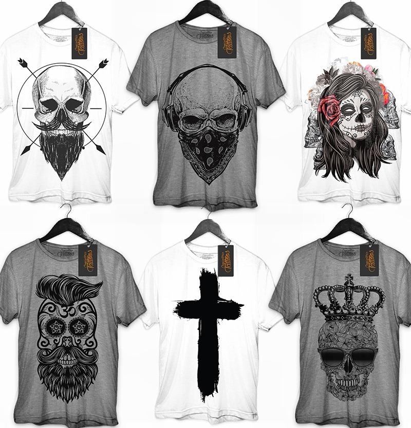 639a1d03eb5 Camisa Camiseta Moda Masculina Corte Linda Estampa Preta Top - R  44 ...