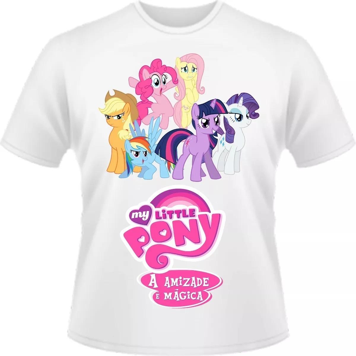 Camisa Camiseta My Little Pony A Amizade É Mágica Infantil