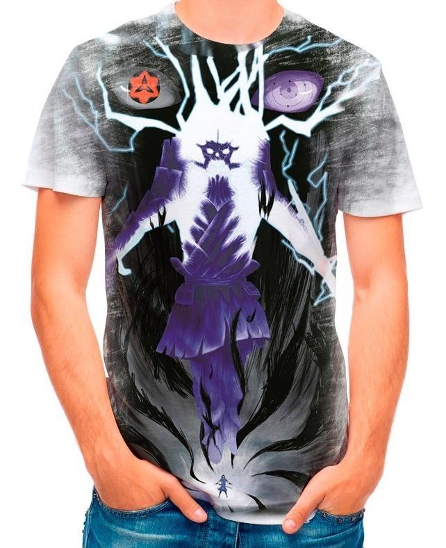 Camisa Camiseta Naruto Sasuke Itachi Susanoo 2933 R 39 90 Em