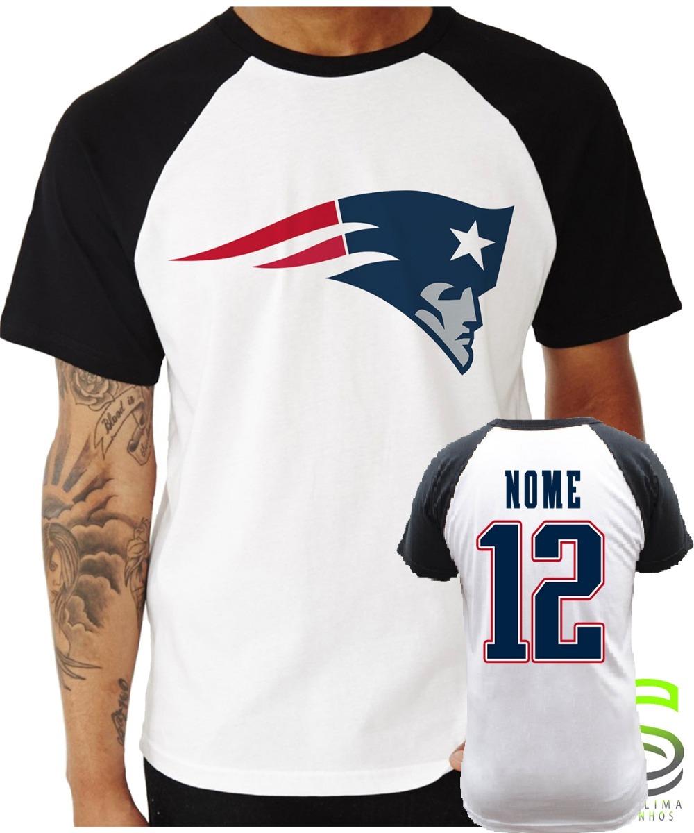 9d84ec984 Camisa Camiseta New England Patriots Nfl Personalizada  fg - R  102 ...