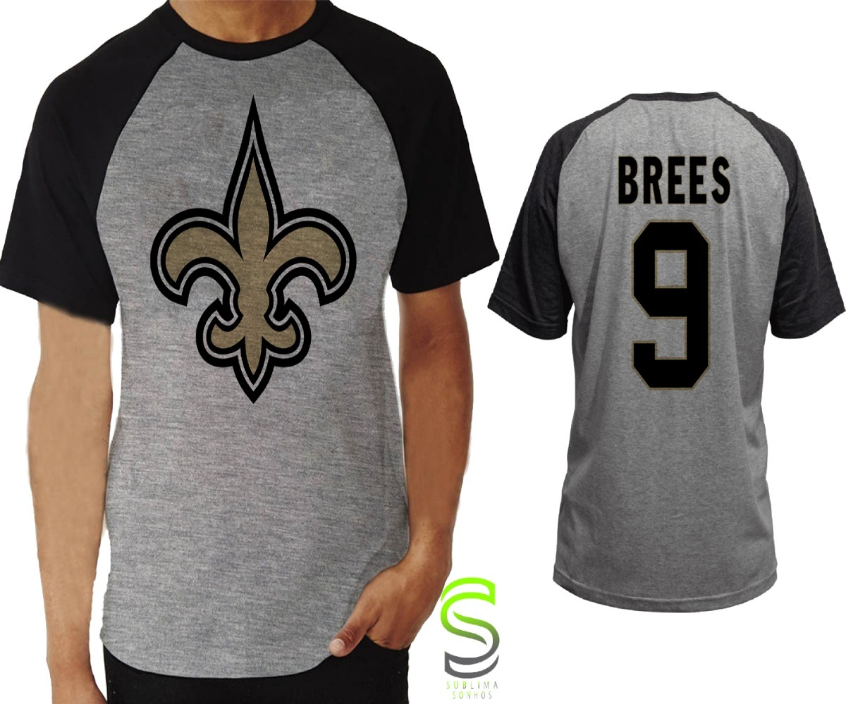 8124cc0acc827 camisa camiseta new orleans saints brees nfl raglan. Carregando zoom.