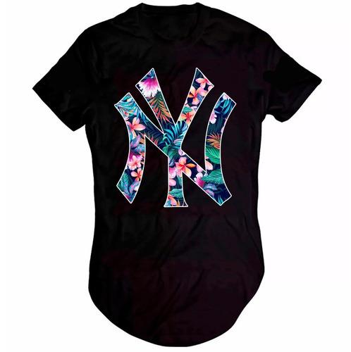 camisa camiseta new york ny kings swag oversized longline