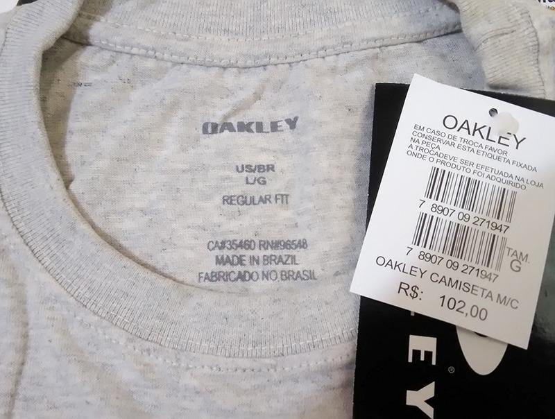 63ad35c3c7 camisa camiseta oakley original masculina cinza claro - g. Carregando zoom.