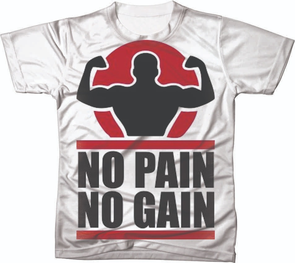 a145d5cc97 camisa camiseta personalizada academia no pain no gain 01. Carregando zoom.