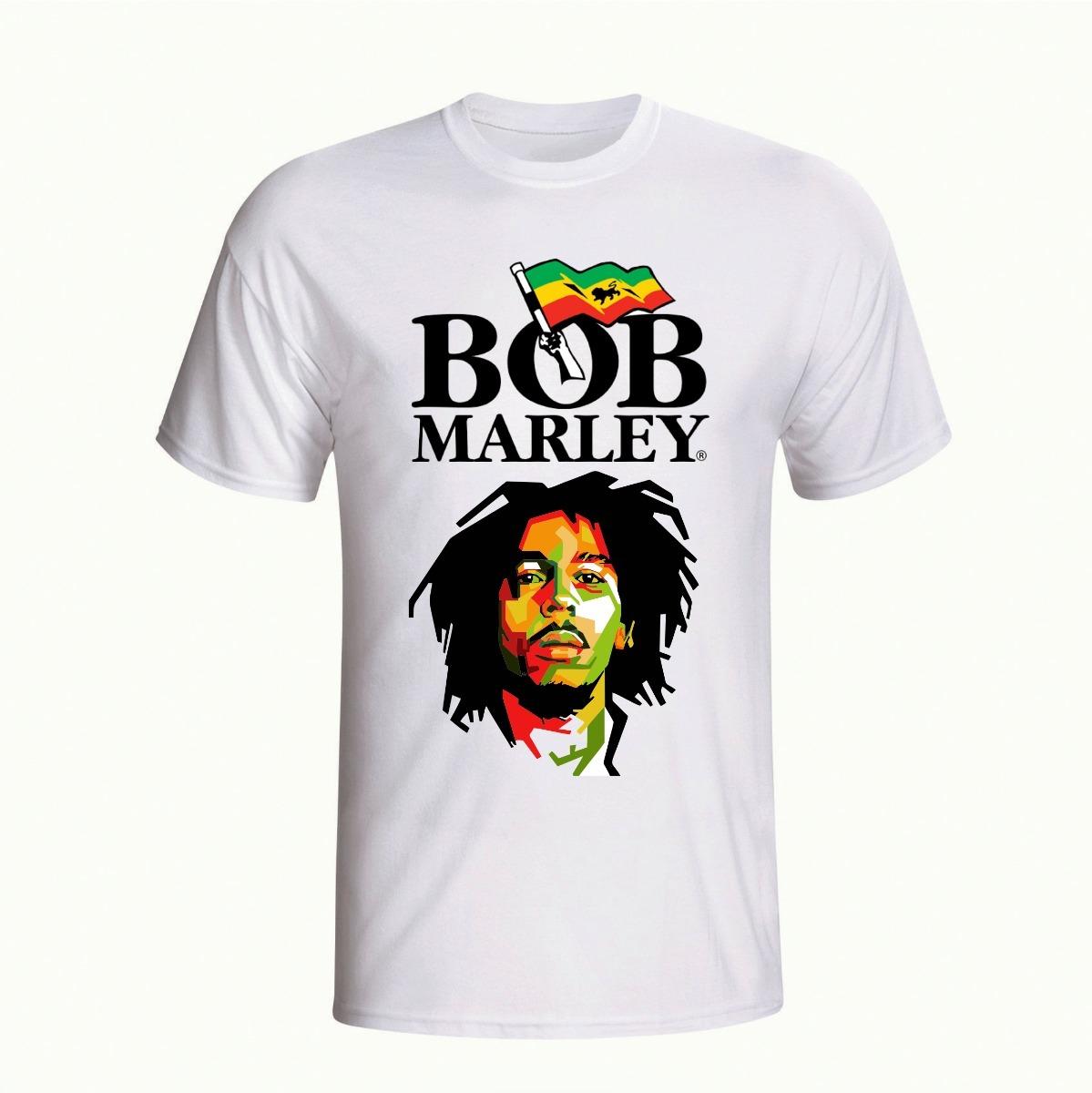 a8a4749a2 Camisa Camiseta Personalizada Cantor Reggae Bob Marley Leão - R  95 ...
