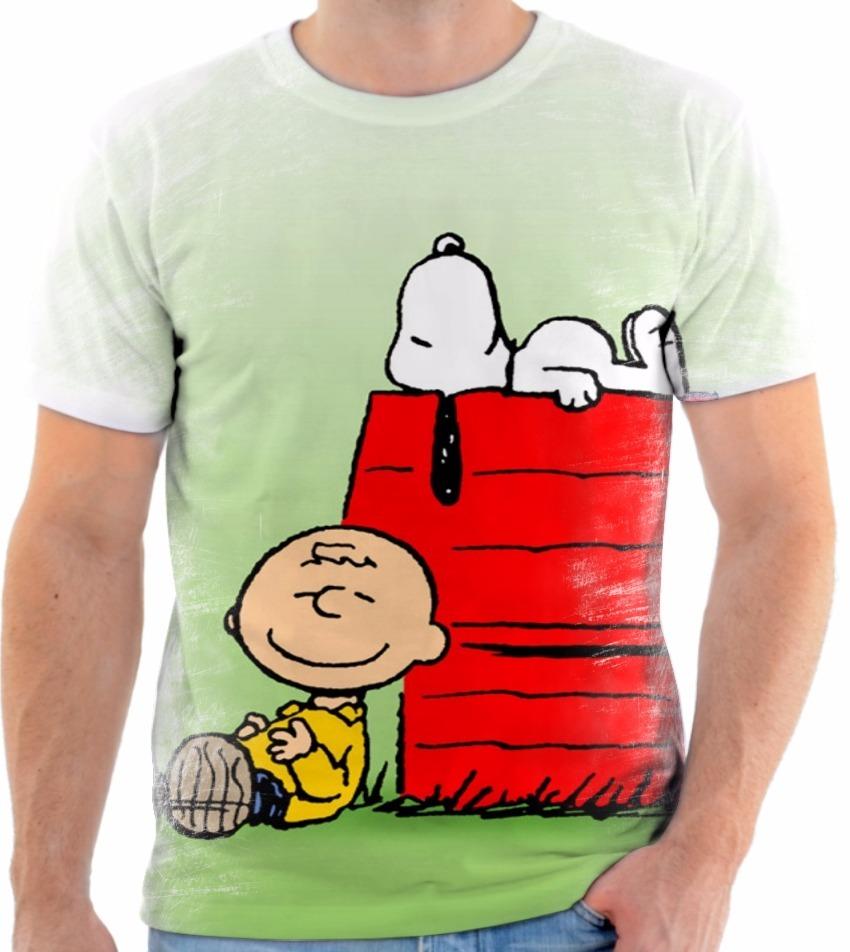 camisa camiseta personalizada desenho snoopy charlie brown 9. Carregando  zoom. 6c20190a9ce
