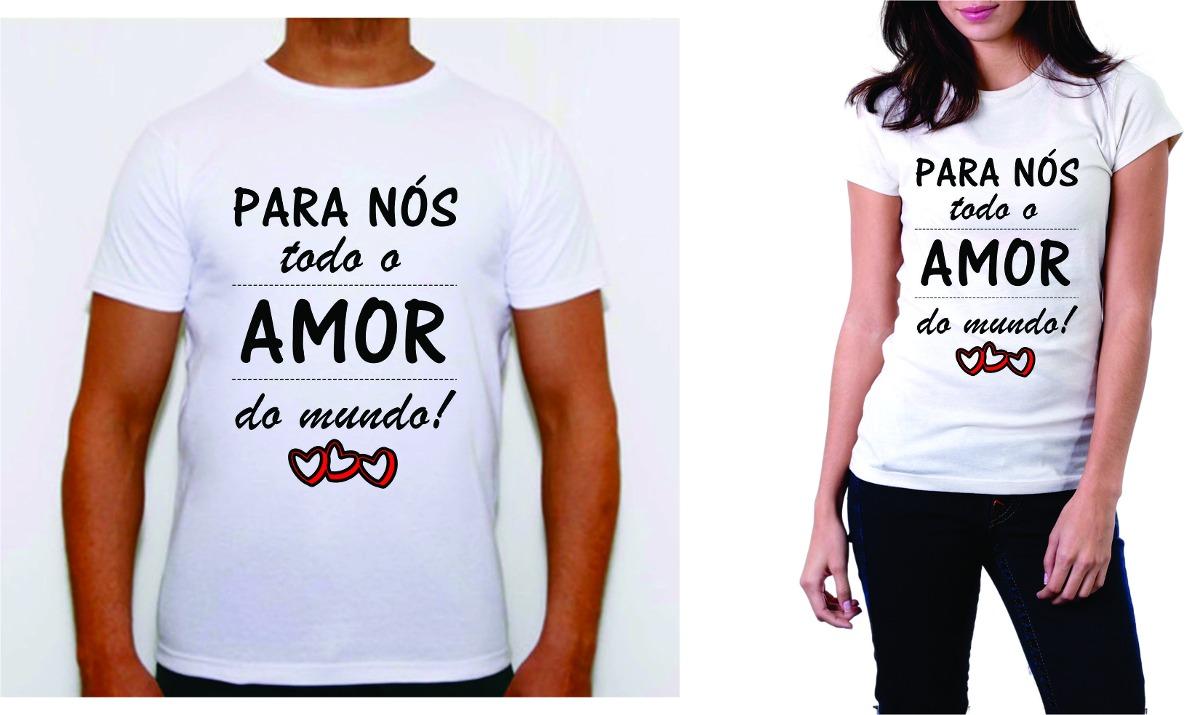 Camisa Camiseta Personalizada Dia Dos Namorados Love Amor - R  55 36f6029d69006