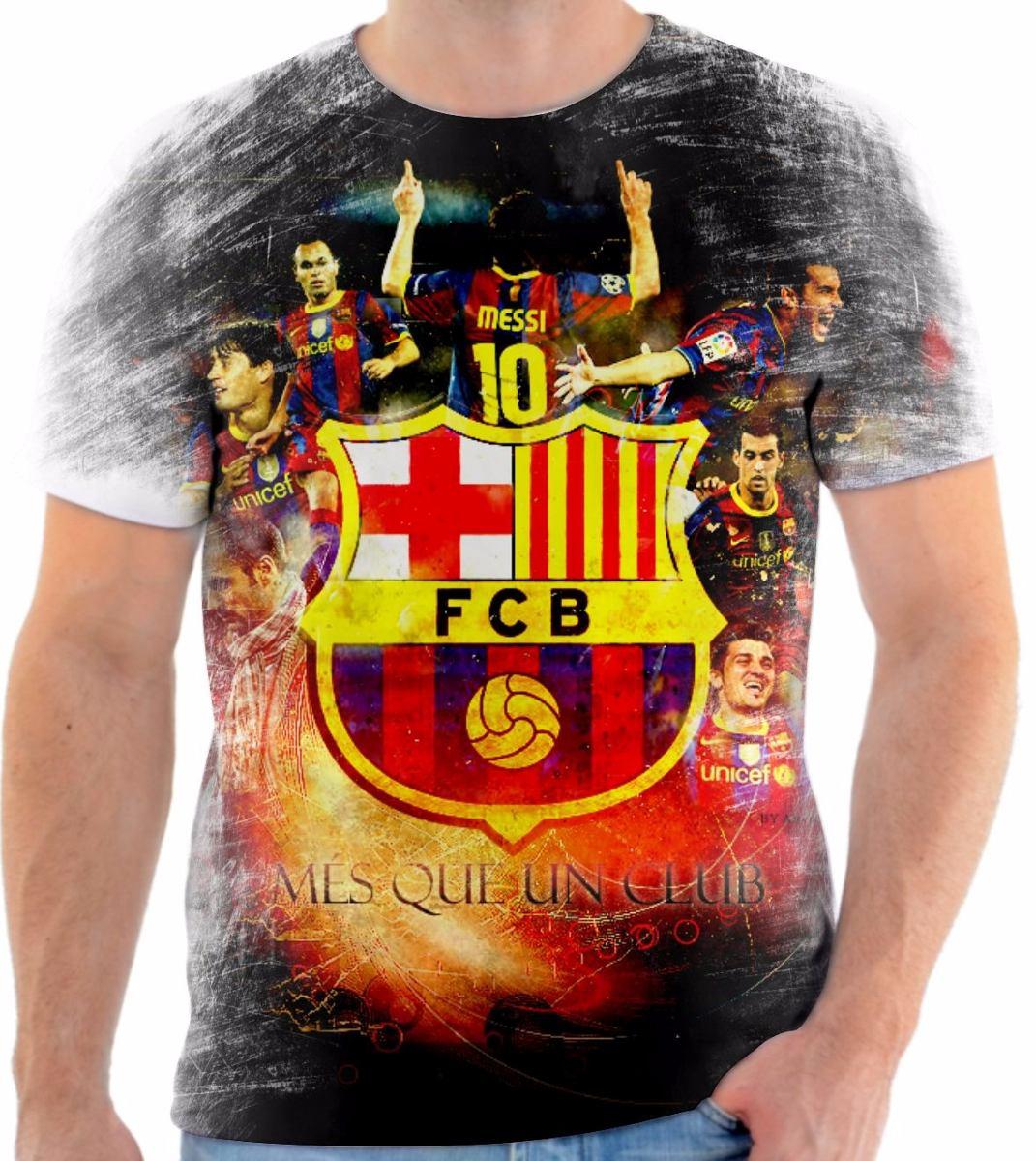camisa camiseta personalizada do time barcelona. Carregando zoom. 352e701ddd6d4