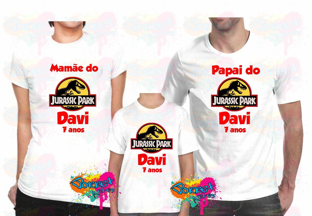 camisa camiseta personalizada jurassic park 3 pçs a4. Carregando zoom. 7aaacc318e2
