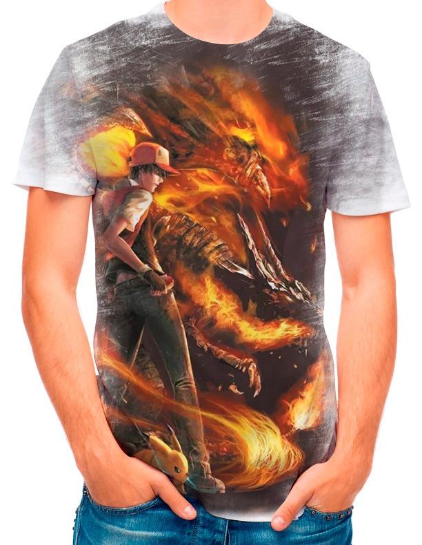 2388aabcbc Camisa Camiseta Pokemon Charizard Vs Blastoise 3363 - R  35