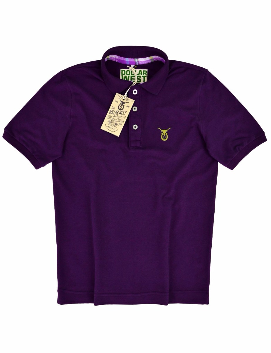 cf876e116056b camisa camiseta polo cor uva original dollar west country. Carregando zoom.
