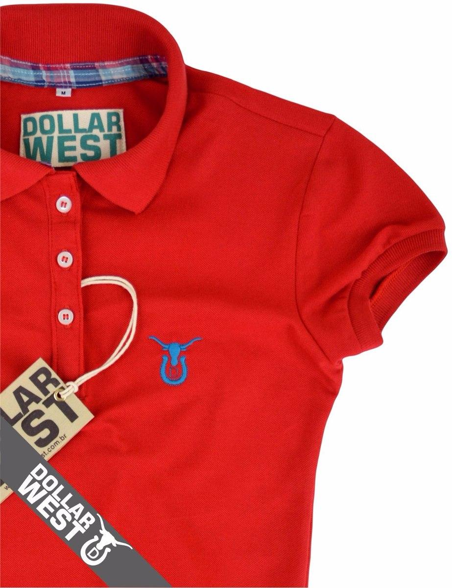 e1043c1fc7114 camisa camiseta polo country feminina original dollar west. Carregando zoom.