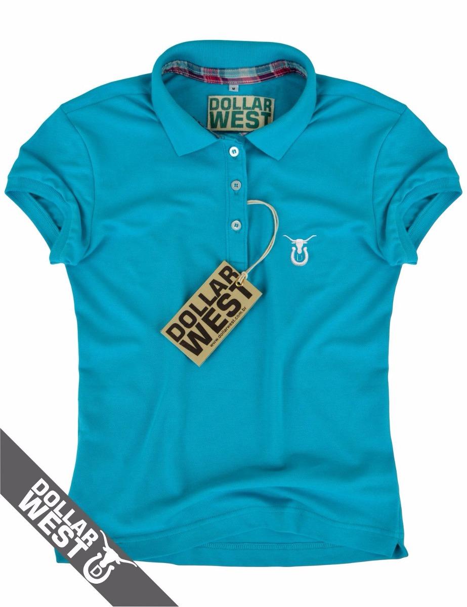8dafc1f9520aa camisa camiseta polo feminina country original dollar west. Carregando zoom.