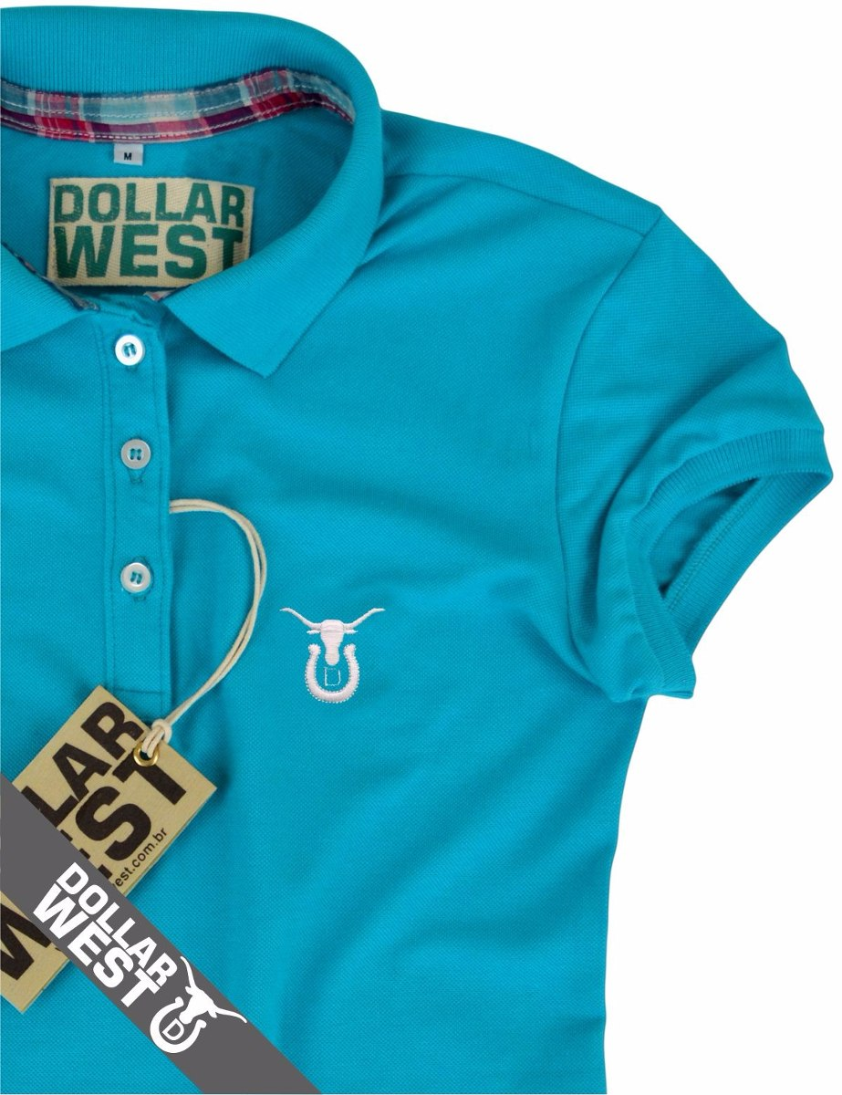 8dafc1f9520aa camisa camiseta polo feminina country original dollar west. Carregando zoom.