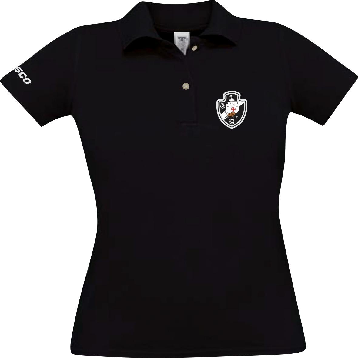 01044d62f1fc5 Camisa Camiseta Polo Feminina Do Vasco Blusa Vasco Da Gama - R  55 ...