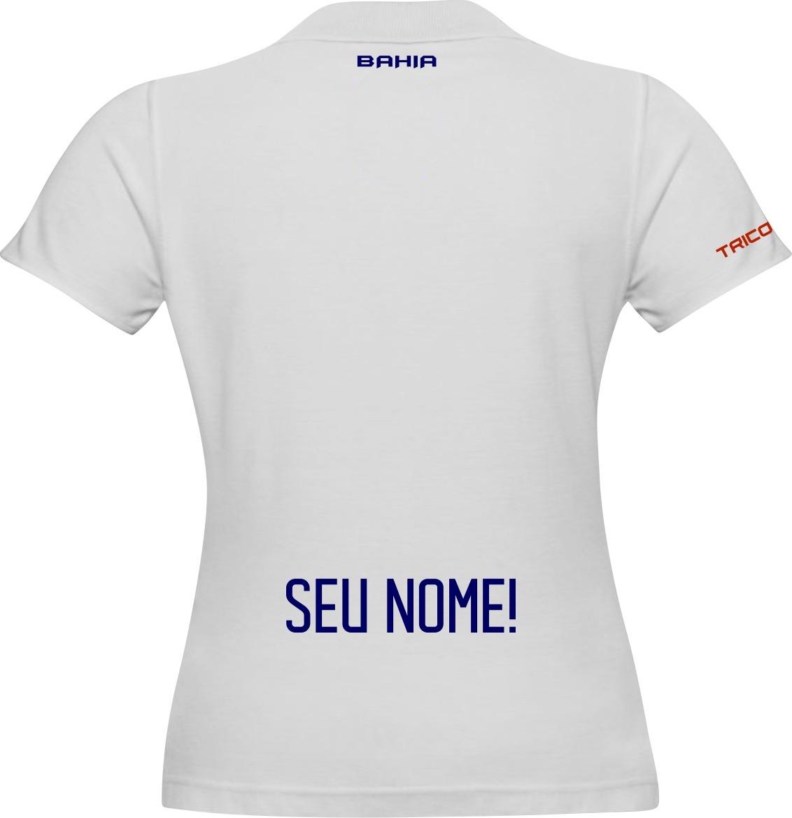 a52666c17d Camisa Raglan Bahia Futebol Personalizada Com Nome Mescla. Carregando zoom.